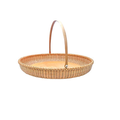 """15""""Shallow Round Nantucket Lightship Basket Tray by Jane Theobald"""