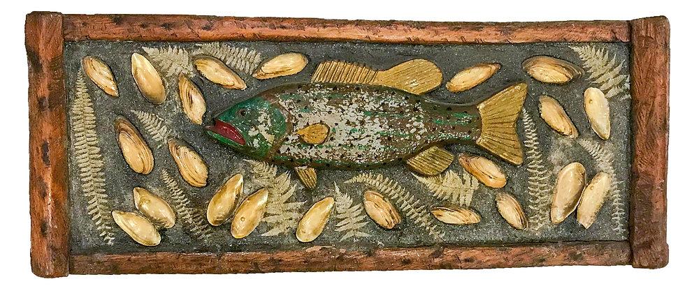 Adirondack Style Lake Fish Plaque