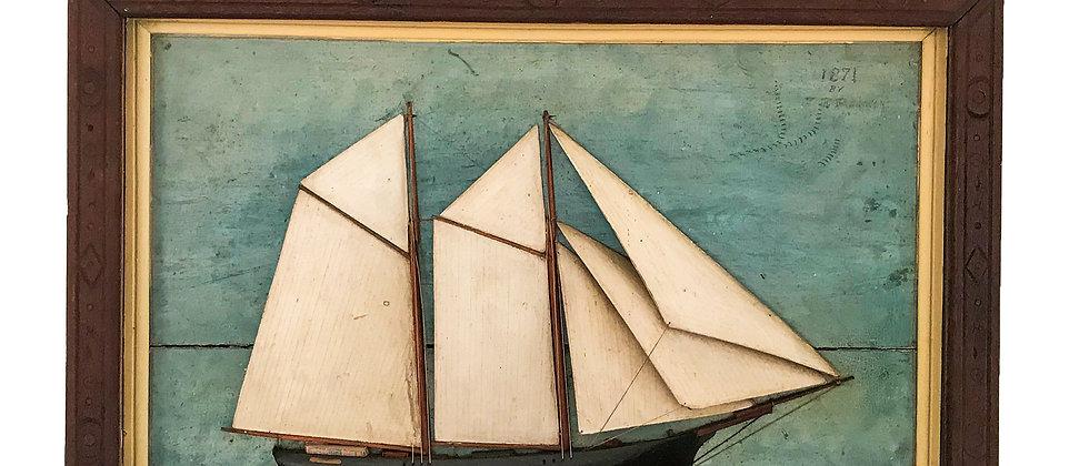 Ship Diorama of Schooner