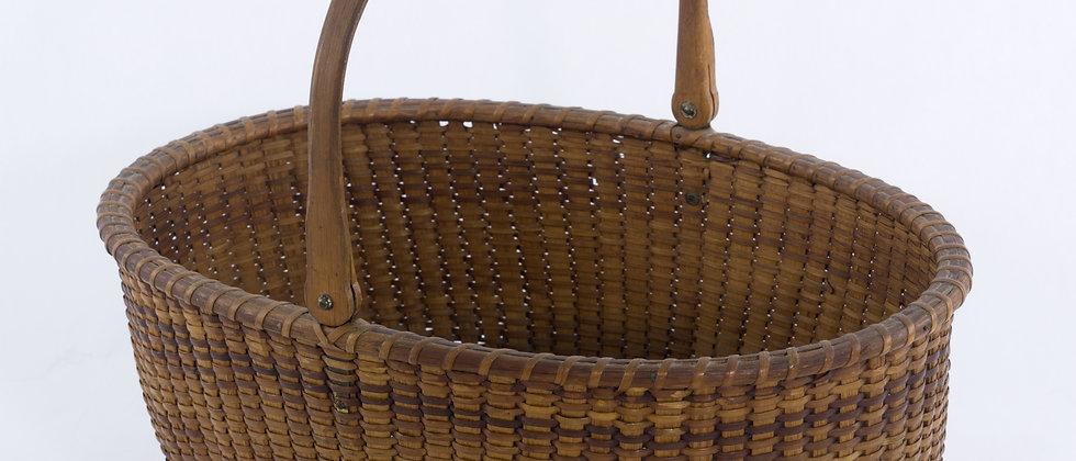 Large Oval Nantucket Lightship Basket, Attributed to Capt, Andre Sandsbury