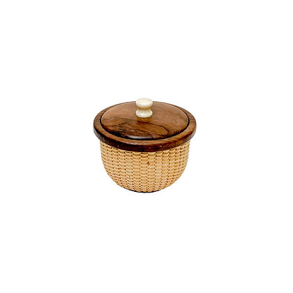 Miniature lidded basket by Bill and Judy Sayle
