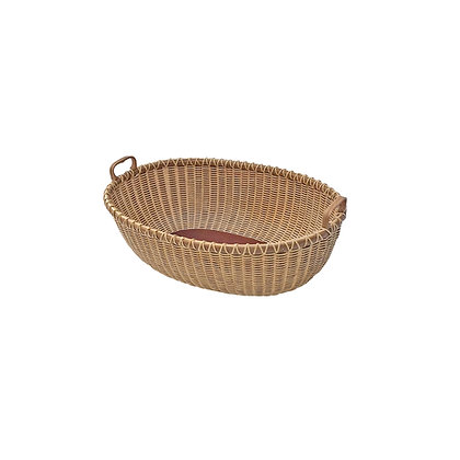 "12"" Oval Nantucket Bread Basket by Jane Theobald"