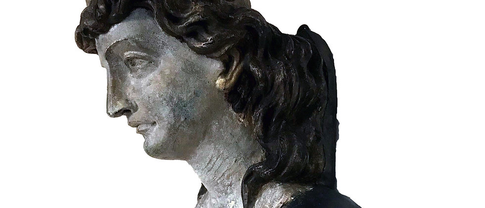 19th Century Carved Bust of a Figurehead