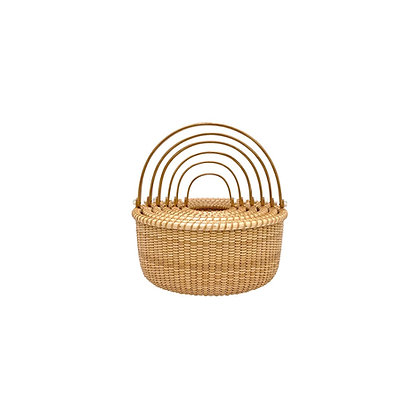 Miniature Nest of 6 Nantucket Lightship Baskets by Bill and Judy Sayle