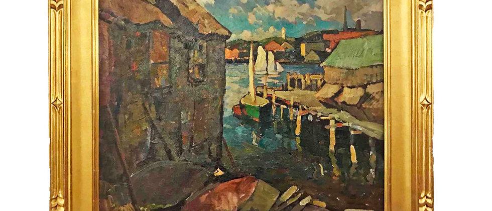 """""""Gloucester Harbor"""" by William Lester Stevens"""