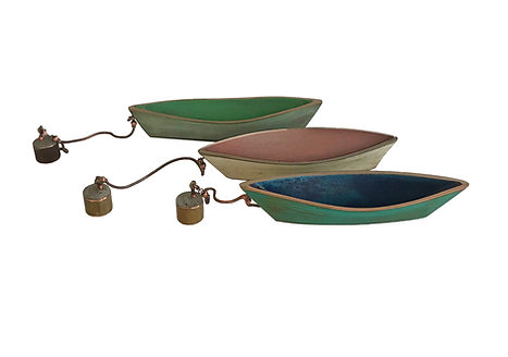 Bronze Dory with Anchor by Jack and Alice Mclean