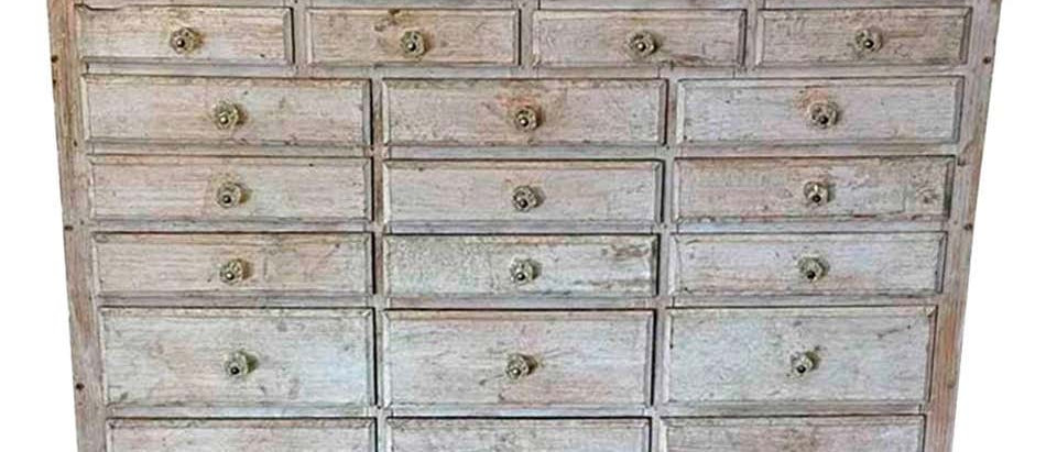 20th Century painted 30 drawer apothecary