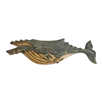 Hand carved and painted Humpback Whale by Wendy Lichtensteiger