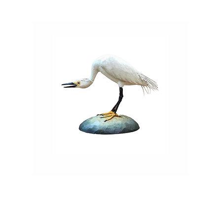 Miniature Snowy Egret by Frank Finney