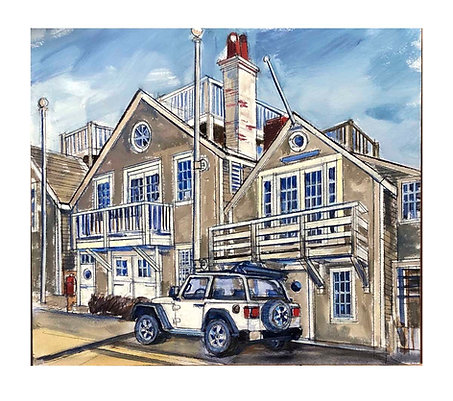 """Jeep, Old North Wharf"" by Robert Miklos"
