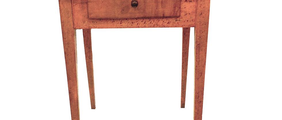 One Drawer Painted Hepplewhite Work Table