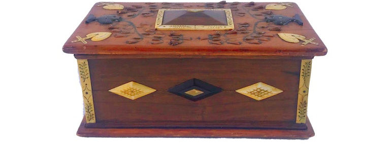 Intricate, Sailor Made Rosewood and Pine Lift Top Box