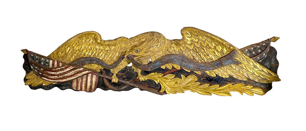 Large Carved American Spread Winged Eagle Plaque