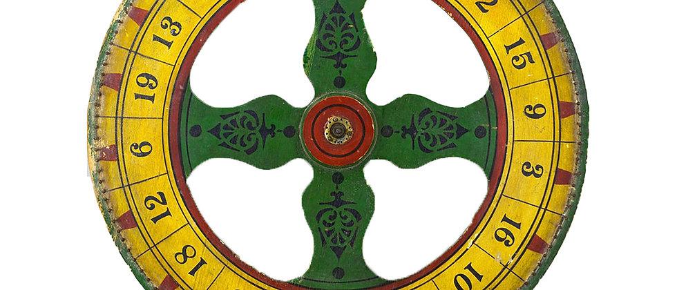 Early Twentieth Century Game of Chance Spinning Wheel