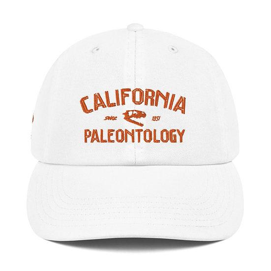 California Paleontology Coelophysis Champion Dad Cap (Orange)