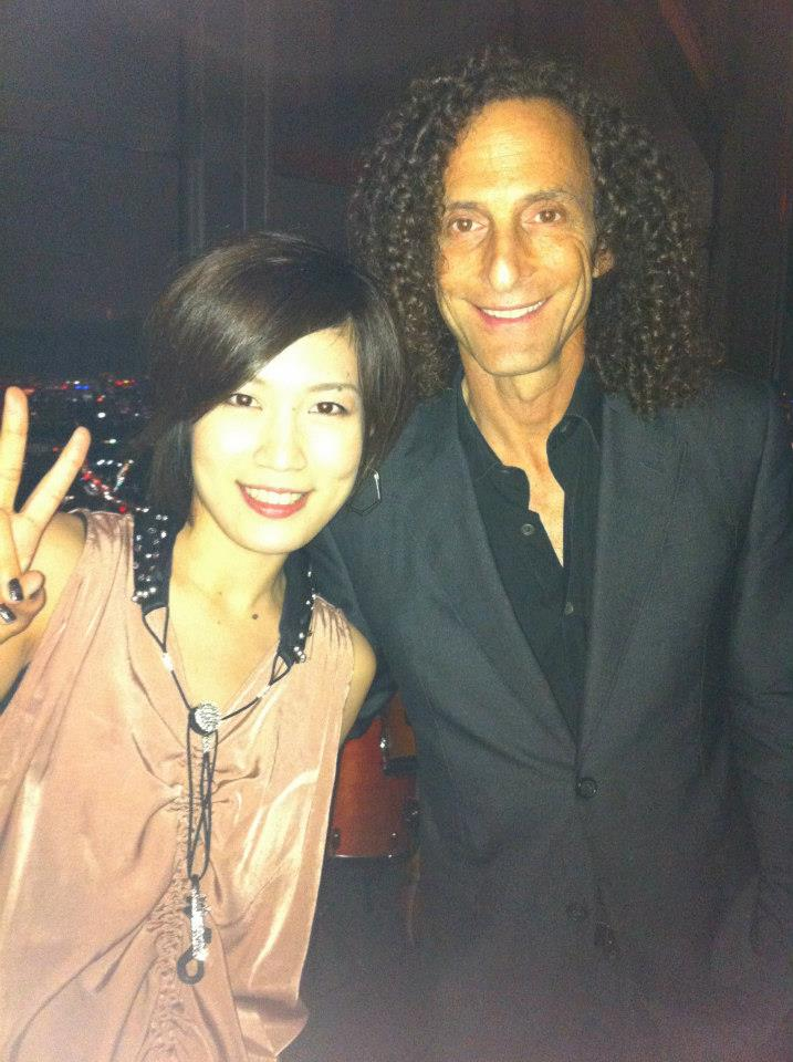 with Kenny G at New York Bar