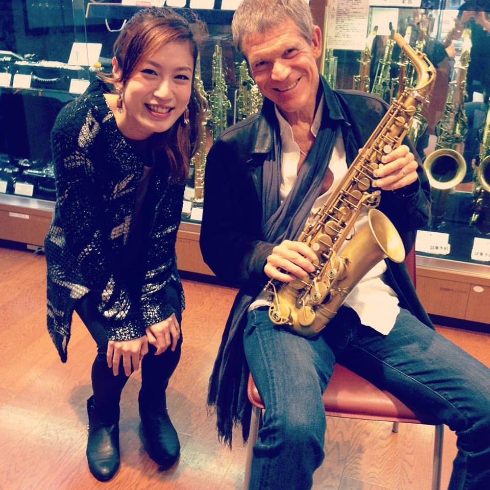 with David Sanborn at ISHIMORI