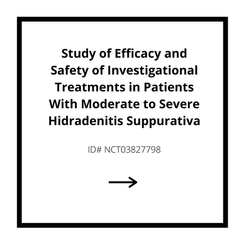 Study of Efficacy and Safety of Investigational Treatments in Patients With Moderate to Severe Hidradenitis Suppurativa