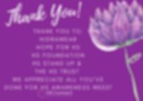 Purple Peonie Script Merci Thank You Pos