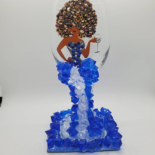 Diva Wine Glass - Caribbean Breeze