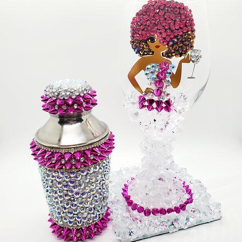 Diva Wine Glass and Shaker Set