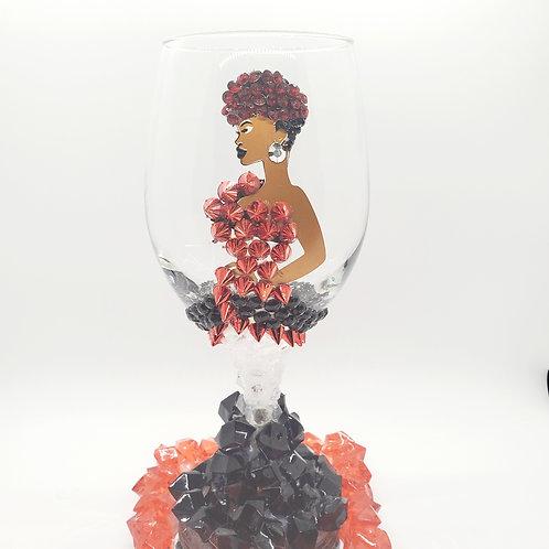 Diva Wine Glass - Spiked Red Wine Spritzer