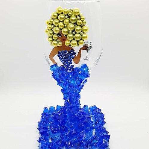 Diva Wine Glass - Blueberry Lemonade