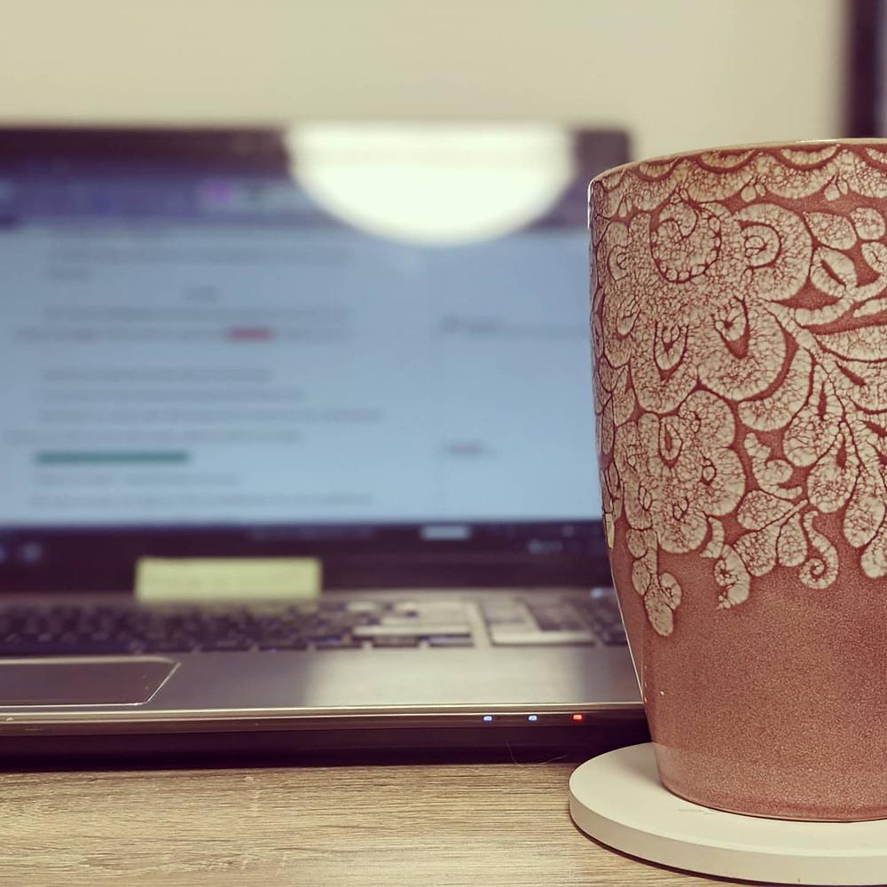 Copyediting with a mug of tea. | editsbytoni.com | @editor_tonis on Instagram
