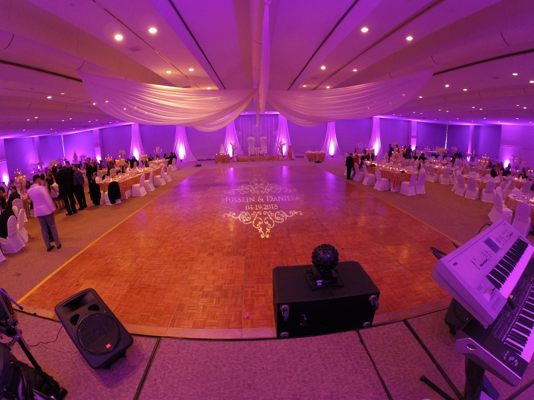 Custom Monogram & Uplighting