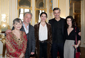 Le Canard à l'orange. De gauche à droite : Sophie Artur, Nicolas Briançon, Anne Charrier, François Vincentelli, Alice Dufour