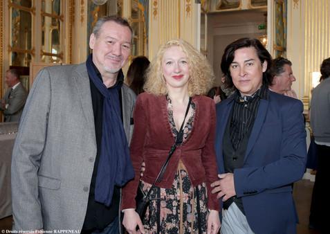 Fric-Frac. De gauche à droite : Bernard Fau, Emeline Bayart et David Belugou