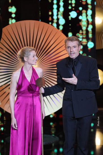 Elsa Lepoivre et Lambert Wilson