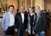 La dégustation. De gauche à droite : Ivan Calbérac, Bernard Campan, Isabelle Carré, Olivier Claverie