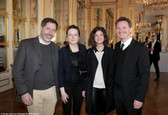 Chapitre XIII. De gauche à droite : Alexandre Denis, Pauline Gallot, Juliette Azzopardi, Sébastien Azzopardi