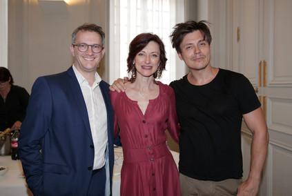 Hervé Lewandowski, Catherine Arondel et Laurent Bàn