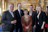 De gauche à droite : Nicolas Briançon, Jean-Marc Dumontet, Sophie Artur, Grégori Baquet, Caroline Vigneaux