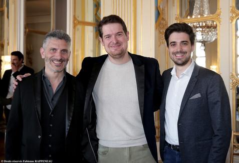 De gauche à droite : Nicolas Nebot, Ludovic-Alexandre Vidal, Julien Salvia
