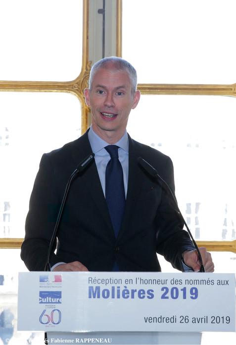 Le Ministre de la Culture Franck Riester