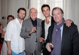 Tristan Petitgirard, Jean-Claude Houdinière, Valentin de Carbonnières et Daniel Russo.