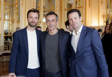 La Machine de Turing. De gauche à droite : Amaury de Crayencour, Benoit Solès et Tristan Petitgirard