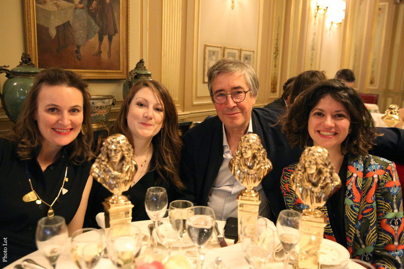 Pauline Yaoua Zurini, Pauline Gallot, Philippe Lacombe et Juliette Azzopardi, lauréats du Molière de la Création Visuelle pour Chapitre XIII