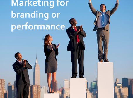 Branding or performance