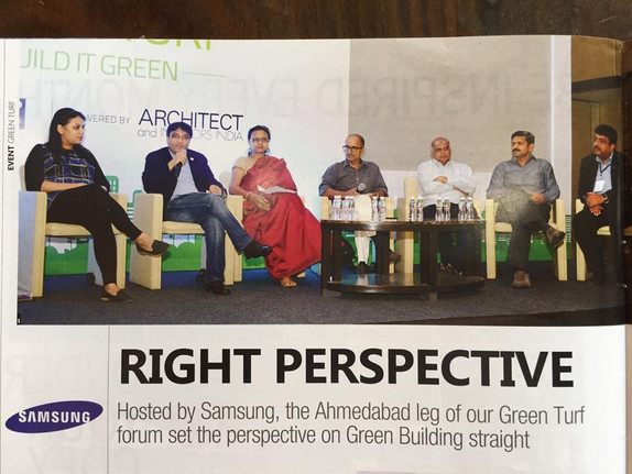 Architect and Interiors India covers the green turf forum