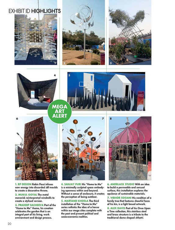 ELLE DECOR India talks about our Wooden Tower at India Design ID 2015 @Exhibit ID
