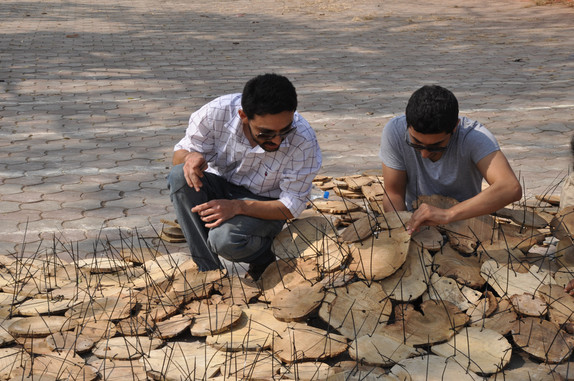 andblack invited by Pune Biennale to do another version of Wooden Foliage