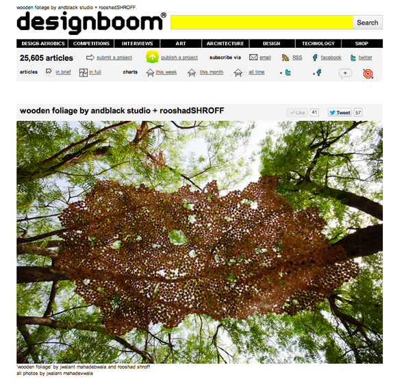Designboom talks about our Wooden Foliage