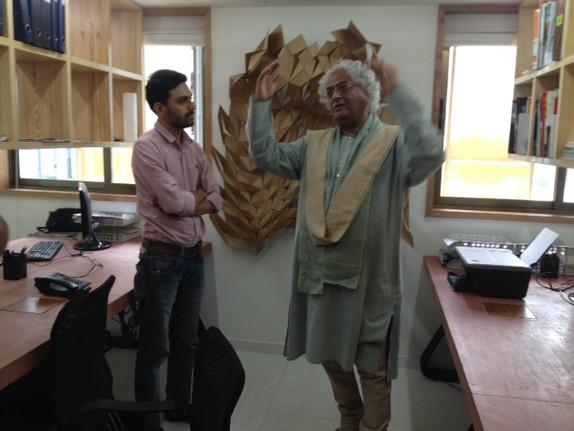 Veteran designer Rajeev Sethi visits our studio