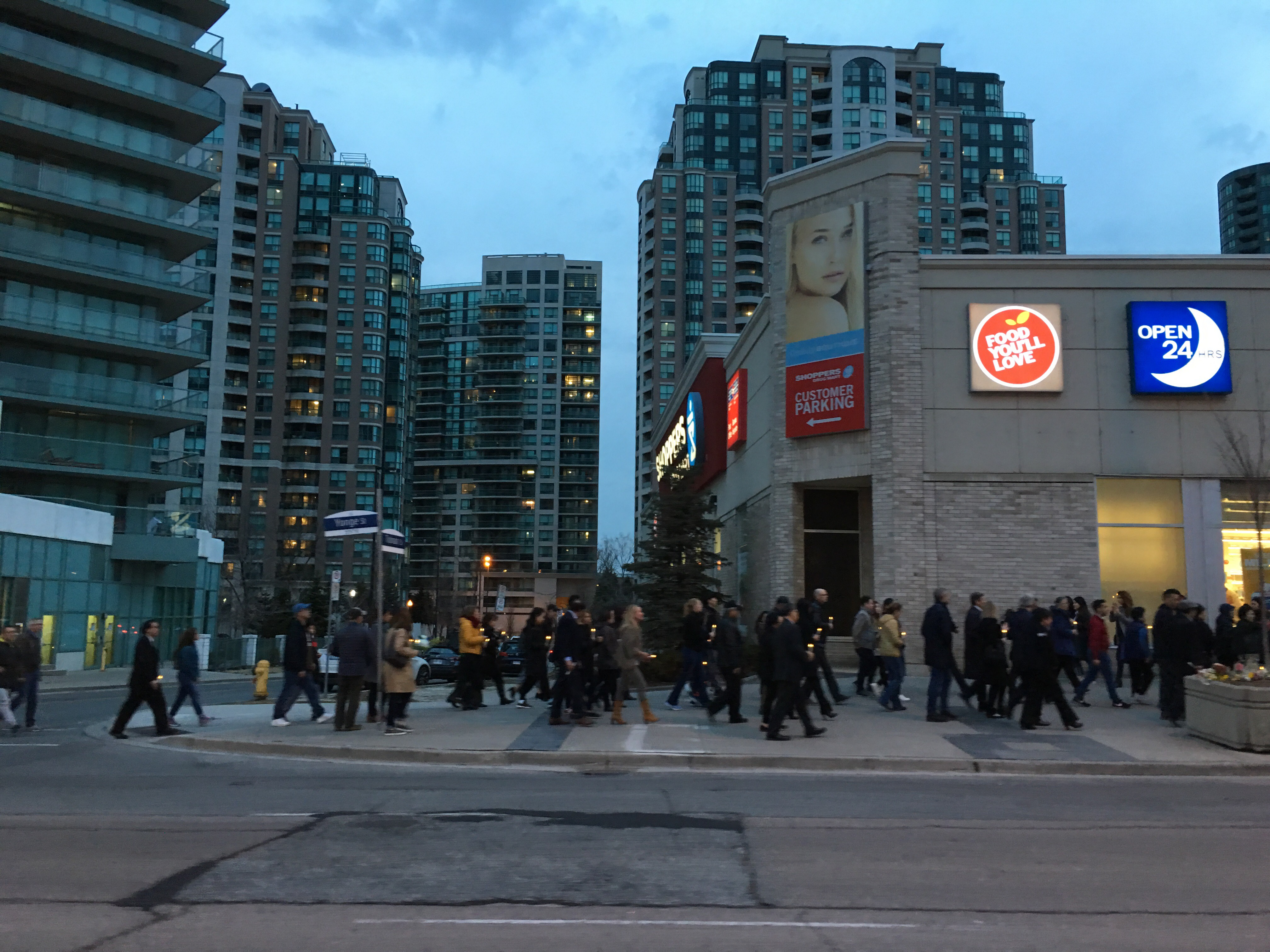 People marching to Olive Square 1