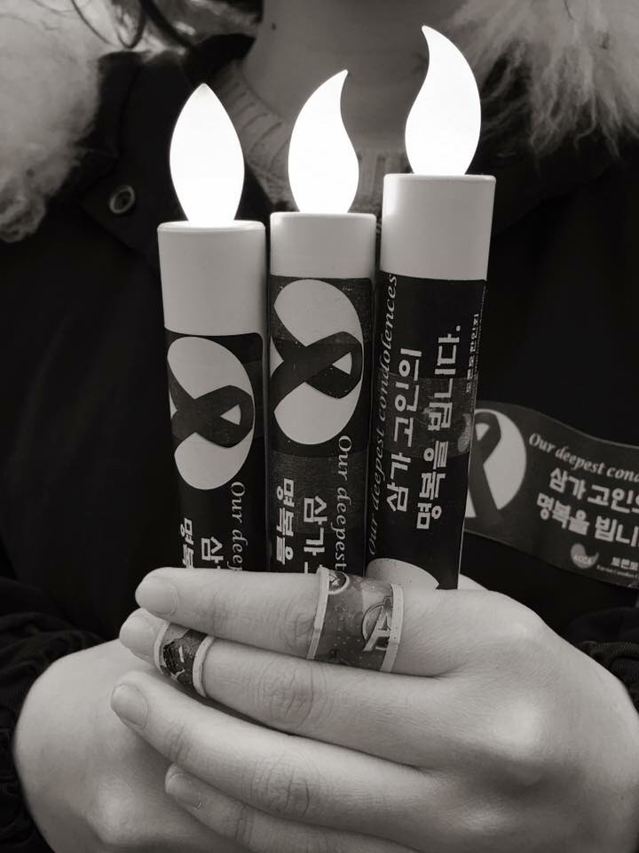 Dana with candles