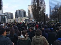 People at Mel Lastman Square